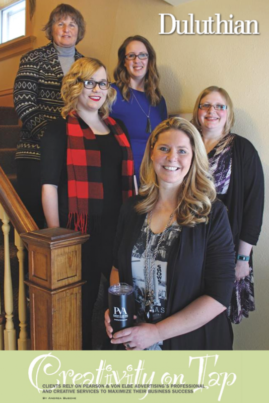 Duluthian Magazine features PVA Pearson and von Elbe Advertising Agency, Duluth MN