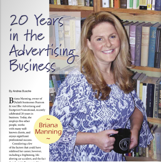 briana manning 20 years in the advertising business