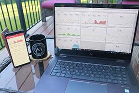 google analytics data on laptop