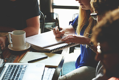 group of people in meeting