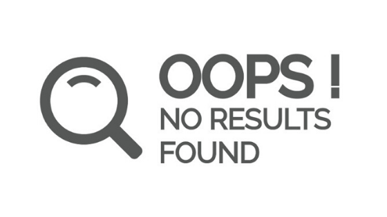 website results not found