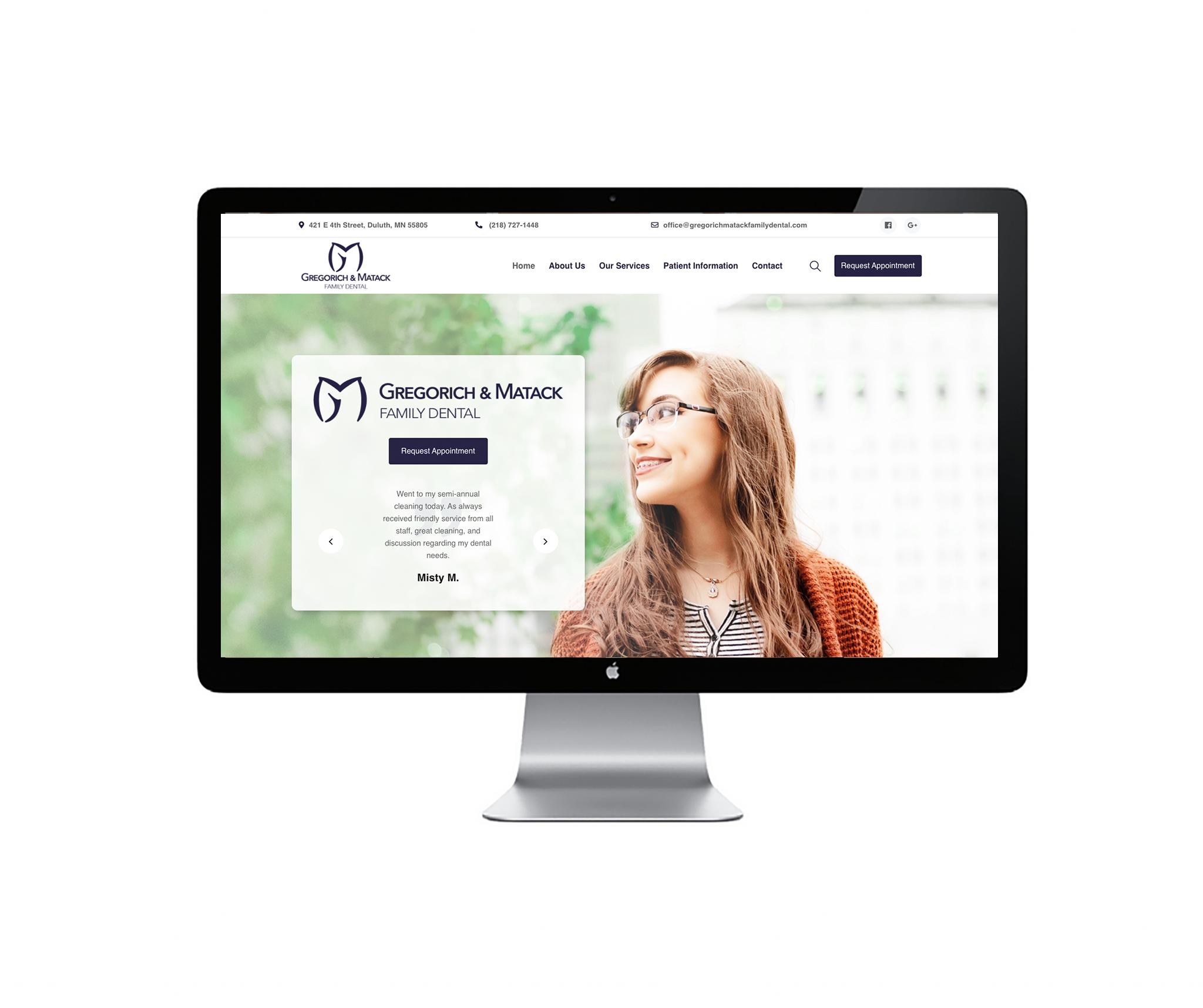 gregorich and matack dental website