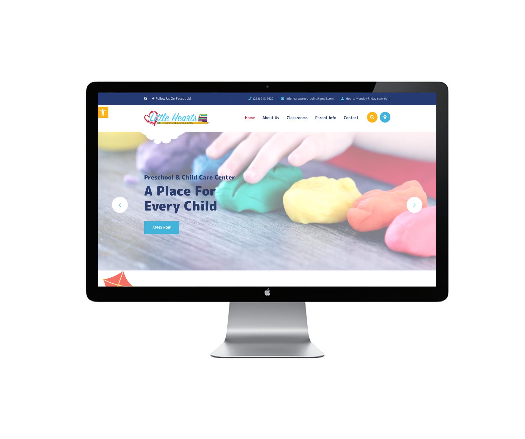 little heart's preschool website
